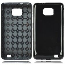 Glossy Black TPU Crystal CANDY Skin Case Cover for AT&T Samsung Galaxy S II 2