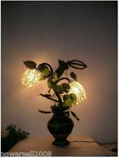 New OZ Style Hand Made Rattan 2 Lights Bedside Table Lamp