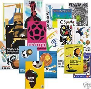 1930-2018 World Cup Poster POSTCARD Complete Set