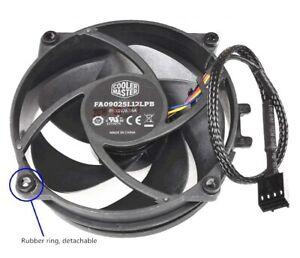 CoolerMas FA09025L12LPB DC12V 0.15A 90*90*25MM 9CM 4Pin Fan AMD R3 R5 AM4