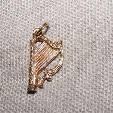 VINTAGE 9CT 9 CARAT 9K GOLD YELLOW GOLD IRISH HARP CHARM 1.4 GRAMS FULL HALLMARK