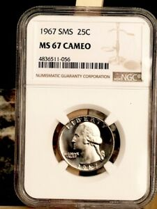 1967 Washington NGC SMS 67 Cameo * Gorgeous - Rare *