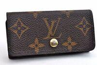 Authentic Louis Vuitton Monogram Multicles 4 Four Hooks Key Case M62631 LV 99159