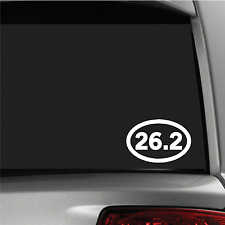 26.2 Marathon Sticker Vinyl Decal Oval Running Run Race Jogging Auto car window