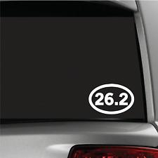 26.2 Marathon Sticker Vinyl Decal Oval Running Run Race Jogging Auto car window