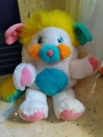 Vintage Popples Puffball Plush Toy 80s