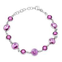 Crystaluxe Bracelet with Purple Swarovski Crystals in Sterling Silver