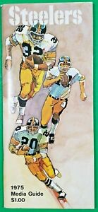 1975 Pittsburgh Steelers Media Guide - Super Bowl Champs - Very Good Condition