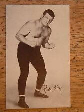 REAL PHOTO POSTCARD RUDY KAY WRESTLER NWA WRESTLING PENNY ARCADE CARD OLD WWF