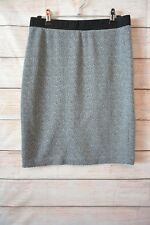 French Connection Skirt Size 10 Medium Grey Black Pencil Stretch