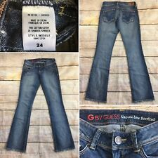 a745a239383 G by Guess Womens Naomi Low Rise Bootcut Denim Jeans Size 24 Distressed