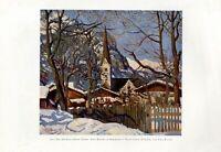 Kirche in Garmisch Oberbayern XL Kunstdruck 1926 von Carl Reiser * Partenkirchen