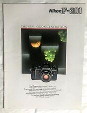 The Nikon F301 Camera, Product Brochure