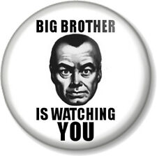 BIG BROTHER IS WATCHING YOU 25mm Pin Button Badge George Orwell 1984 Book Movie
