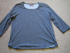 Chico's Womens 3/4 Sleeve Round Neck Pullover Cotton Tunic Top - size 2