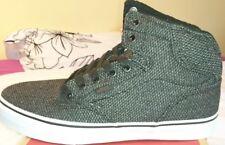 Vans Winston Hi Top H16 Textile Black Grey Uk 6.5 Bnib Mens Trainers Skate Shoe