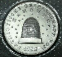"Silber-Medaille o J - verblistert ""Patriotische Gesellschaft Hamburg"" stgl / unc"