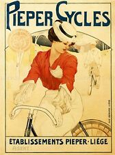 COMMERCIAL ADVERT BICYCLE PIEPER LIEGE BELGIUM VINTAGE POSTER ART PRINT BB1695A