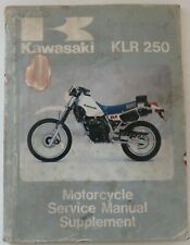 1985 Kawasaki Klr 250 Motorcycle Service Manual Supplement . 99924-1051-01 (Fits: Kawasaki)