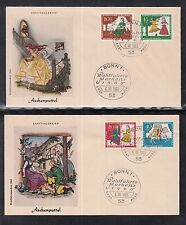 "Germany  2 beautiful FDC 1965 - Fairy Tale ""Cinderella"""