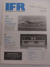 IFR Pilot Magazine How To Reject A Takeoff March 1989 FAL 061815R