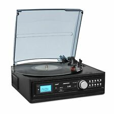 MEDION E69468 USB Schallplattenspieler mit Lautsprecher  - Schwarz