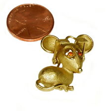 VTG SIGNED AVON MOUSE WITH MOVABLE EYEGLASSES BROOCH PIN