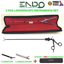Nuevo Soporte Endoscopia Laparoscopia aguja Conjunto de capacitación de 2 Piezas Disector sujetar CE