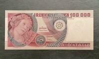 100000 Lire PRIMAVERA DEL BOTTICELLI FDS 01/07/1980 - RARE ITALY UNC BANKNOTE
