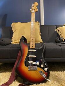 70s Ibanez Stratocaster Copy Electric Guitar, Sunburst w/ Fender Pickups & Pots