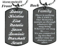 FAMILY POEM personalized with name's or your family picture, FREE ENGRAVING