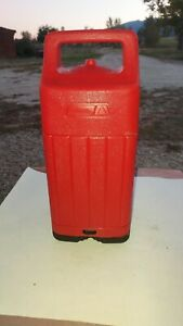 Vintage Coleman Red Plastic Lantern Carrying Case Great Shape 1984. For 200a etc