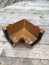 FLOPLAST Ogee Gutter RAN1CA NIAGARA -  90° INTERNAL ANGLE - CARAMEL Light Brown