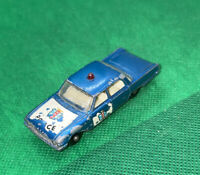 Matchbox Lesney 55 Ford Fairlane Police Car Vintage Blue Die-Cast!