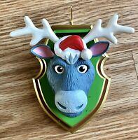 Hallmark Doe Eyed Reindeer Christmas Ornament Solar Motion Detector