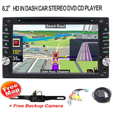 "Double 2Din 6.2"" GPS Navigation Car Stereo DVD Player Map+Camera   Touch Screen"