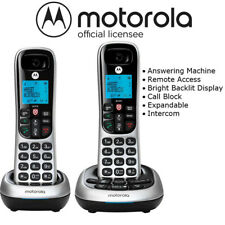 Motorola 2 Handset Cordless Phone System w/ Digital Answering Machine CD4012