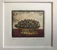Original Etching By Daniele Desplan. Titled Pompee Numbered/Signed. Limited Ed.