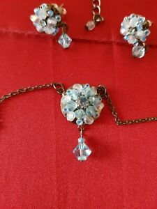 Necklace & Earrings Matching Set Vintage Style Beads/Crystals