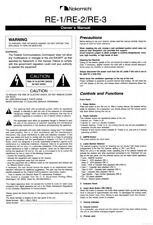 Nakamichi RE-1 RE-2 RE-3 Receiver Owners Instruction Manual
