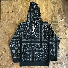UNDEFEATED UNDFTD BANDANA PULLOVER HOODIE BLACK SIZE MEDIUM NEW WITH TAG