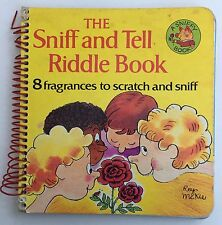 Vintage Children's Book The Sniff and Tell Riddle Book - A Sniffy Book Hardcover