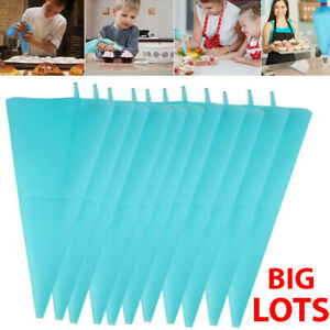 Reusable Blue Cake Piping Bag Icing Cream Pastry Cookies Decorating Decorate UK