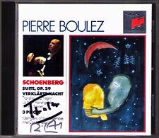 BOULEZ & Pierre-Laurent AIMARD Signed SCHOENBERG Verklärte Nacht Suite Op.29 CD