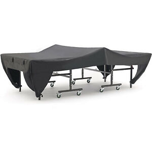 Ping Pong Table Cover Waterproof Weatherproof Cover with 4 Storage Pockets Black