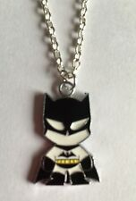 "BATMAN SUPERHERO NECKLACE 16"" Silver Plated Chain PRESENT IN GIFT  BAG"