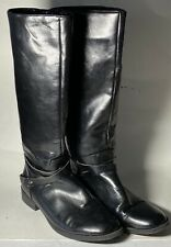 CHAPS Riding Boots JERI Black Full Zip Equestrian Vegan Faux Leather Size 10B