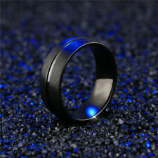 Men&Women Stainless Steel Titanium Band Ring Engagement Party Jewelry Size 6-13