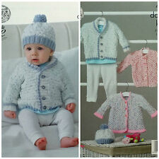 KNITTING PATTERN Baby's Jacket Hat Cardigan and Coat Smarty DK King Cole 4886