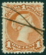 EDW1949SELL : CANADA 1868 Scott #22a Watermarked Used. PSAG Cert. Catalog $500.